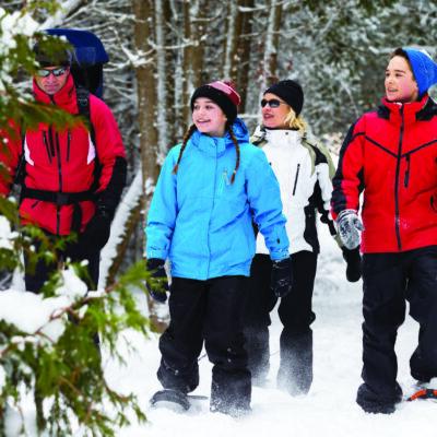 Snowshoeing North Shore